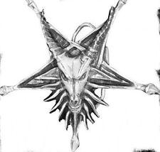 Demonic Head Pewter Belt Buckle - New