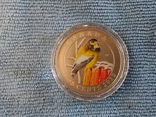 2012 COLORFUL BIRDS OF CANADA QUARTER EVENING GROSBEAK 25 CENTS COLORED COIN