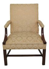 48641EC: HICKORY CHAIR CO Chippendale Mahogany Open Arm Chair