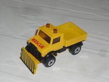 1:64 1:76 Matchbox Mercedes Unimog 4x4 Snowplow Snowplough U1300 U1500 435 424