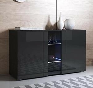 Meuble buffet design élégant moderne finition brillant avec LED 72 x 120 x 40