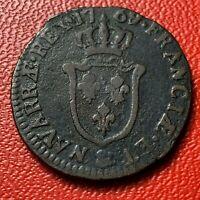 #4194 - RARE - Louis XV Sol d'Aix 1779 & Aix TTB- RARE R - FACTURE