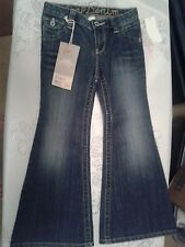 NWT GAP DENIM FLARE BLUE JEANS ADJUSTABLE WAIST 5 POCKET SIZE 5 REG
