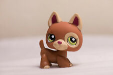 *Littlest Pet Shop* LPS Brown German Shephard Dog w/ Green Eyes #1362