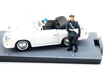 "PORSCHE 356 C CABRIOLET 1952  POLICE ""POLIZEI AVEC FIGURINE  1/43 BRUMM DEC16SP"