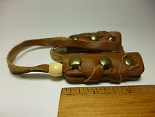 North Star Tan Leather Mini Hair Ties-For Pony Tail/Braid Wrap Made In USA #113