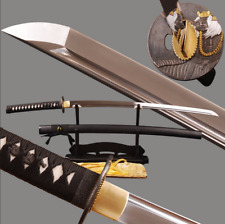 Handmade Japanese Samurai Katana Full Tang Swords 1060 High Carbon Steel Blade