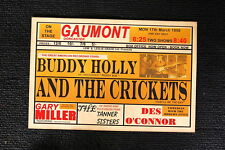 Buddy Holly and the Crickets Tour Poster 1958 Gaumont