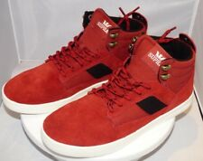 Supra Bandit Mens Hi Top Trainers, in Cayenne & Off White, size Uk7, Free P&P