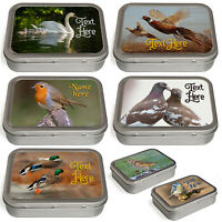 Personalised Bird Tobacco Tin 2oz Baccy Fathers Day Cigarette Birthday Gift