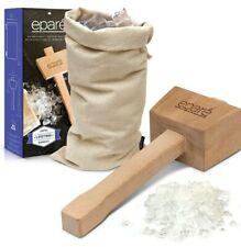Professional Lewis Bag & Crushed Ice Wooden Mallet Bartender Kitchen Tool Set
