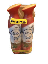 Limited Edition Febreze Air Fresh Pressed Apple Twin Pack 8.8oz Spray Can PO