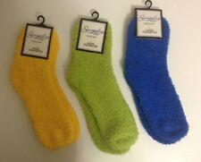 Women's Solid (3 Pack) Plush Super Soft Lounge Sleep Socks-NWT-One Size