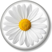 "Daisy 1"" 25mm Pin Button Badge Flower Cute Nature Gardening Summer Eco Warrior"