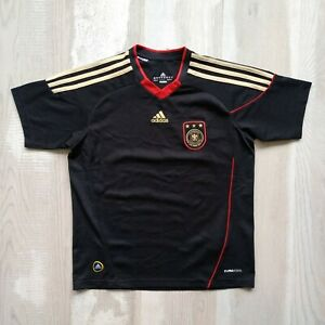 Germany Team Jersey Away football shirt 2009 Black Adidas P41457 Size Young M