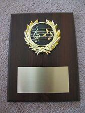 Music/Singing/Band Award Plaque 6x8 Trophy FREE custom engraving