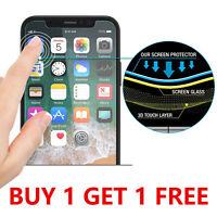 Tempered Glass SCREEN PROTECTOR iPhone 12 11 PRO MAX Mini X, XR, XS, COVER