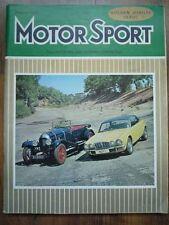 MOTOR SPORT AUG 1975 Dutch GP Bristol visits AC ME3000 Jaguar XJ12 Bentley 3L