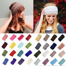 Wide Headband Turban Hair Band Warmer Ear Wool Crochet Knitting Stretch Headwrap