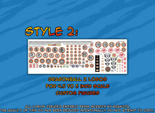 DragonBall Z custom logo stickers for figures STYLE 2 Jakks Irwin Evolve size