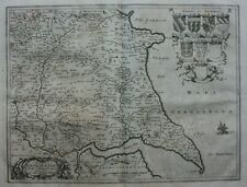 EAST YORKSHIRE antique map, 'DUCATUS EBORACENSIS PARS ORIENTALIS', Blaeu, c.1648