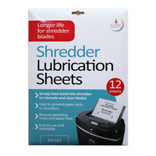 More details for paper shredder lubrication sheets
