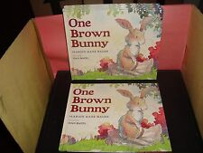 One Brown Bunny by Marion Dane Bauer 2009 Hardcover Book New Scholastic Reading