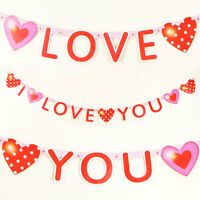 I Love You Banner Valentines Decorations Bunting 1.8M Pub Shop Home