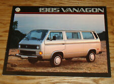 Original 1985 Volkswagen VW Vanagon Sales Brochure 85