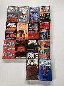 Lot of 15 Stuart Woods Paperback Books MIX
