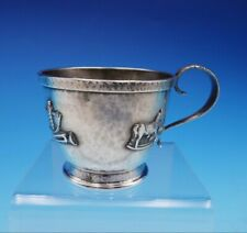Whiting Sterling Silver Baby Cup Hand Hammered with Applied Toys #2540A (#3520)