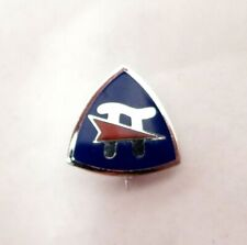Sterling Silver Blue Enamelware Pin With Penant and Pi
