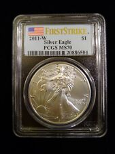 """2011 W Silver Eagle PCGS MS70 """"Burnished"""" First Strike"""