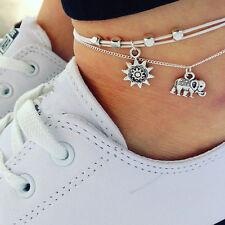 Women Sexy Silver Charm Chain Anklet Bracelet Barefoot Sandal Beach Foot Jewelry