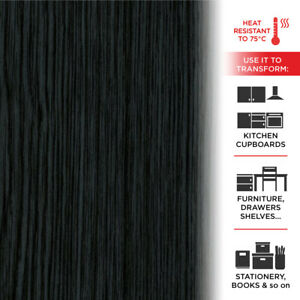 Alkor Pellicola Adesiva per Mobili Effetto Blackwood 45 cm x 2 mt