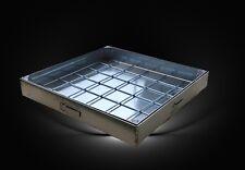 Schachtabdeckung Aluminium, 400 x 400 mm, Wannenhöhe 80 mm, mit Dichtung