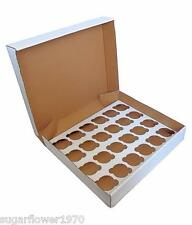 24 hole Cupcake box with insert x 3  muffin strong box NEXT DAY DESPATCH