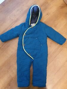 Quilted Teal All In One Hooded Suit - Age 18-24mths  - By Mini Club