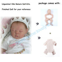 18inch Blank Reborn Baby Dolls Kits DIY Unpainted Reborn Dolls Parts Kid Gifts