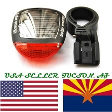 USA Bike Bicycle Tail Light Solar Powered Rechargeable with mount from Tucson