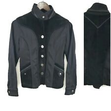 Think Tank Womens Black Suede Leather Jacket Size XS Western Equestrian