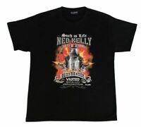 Ned Kelly - Adult T Shirt Australian Souvenir 100% Cotton -Flames