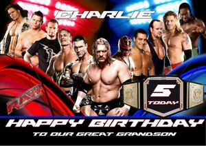 Personalised Birthday Card WWE any name/relation/age