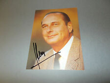 Jacques Chirac Frankreich signed signiert  Autogramm auf Autogrammkarte in pers.