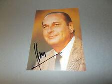 Jacques Chirac France SIGNED signé autographe sur AUTOGRAPHE CARTE en personnes.