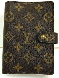 Auth Louis Vuitton Monogram Agenda PM Schedule notebook Cover Spain 57416227