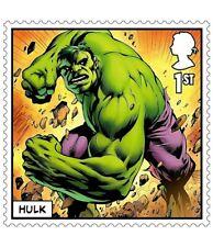 HULK MARVEL illustré sur 2019 TIMBRE de 1st Classe non montés Comme neuf Avengers