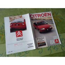 Citroën BX Turbo Diesel, catalogue brochure dépliant