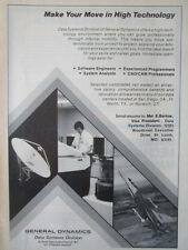 5/1982 PUB GENERAL DYNAMICS DATA SYSTEMS F-16 SPACE OPPORTUNITY RECRUTEMENT AD