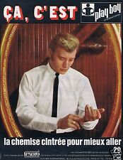 Publicité Advertising 026 1966 Chemise Play-boy avec Johnny Hallyday
